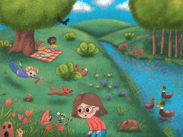 children illustration spring child nature