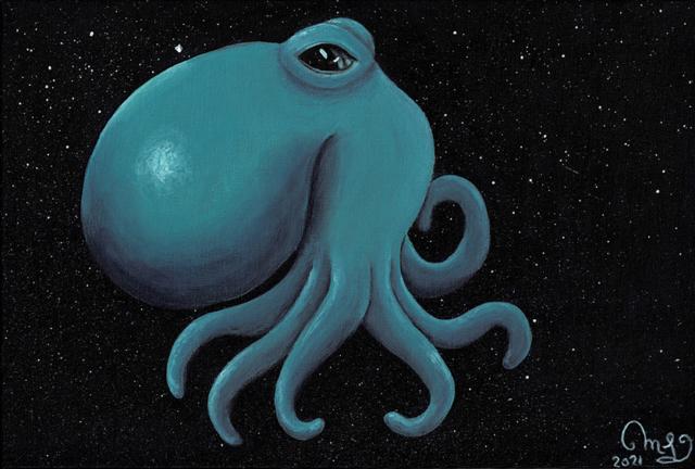 Octopus series, acrylic on canvas